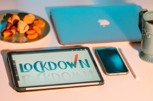 A laptop, smartphone, and tablet on the table