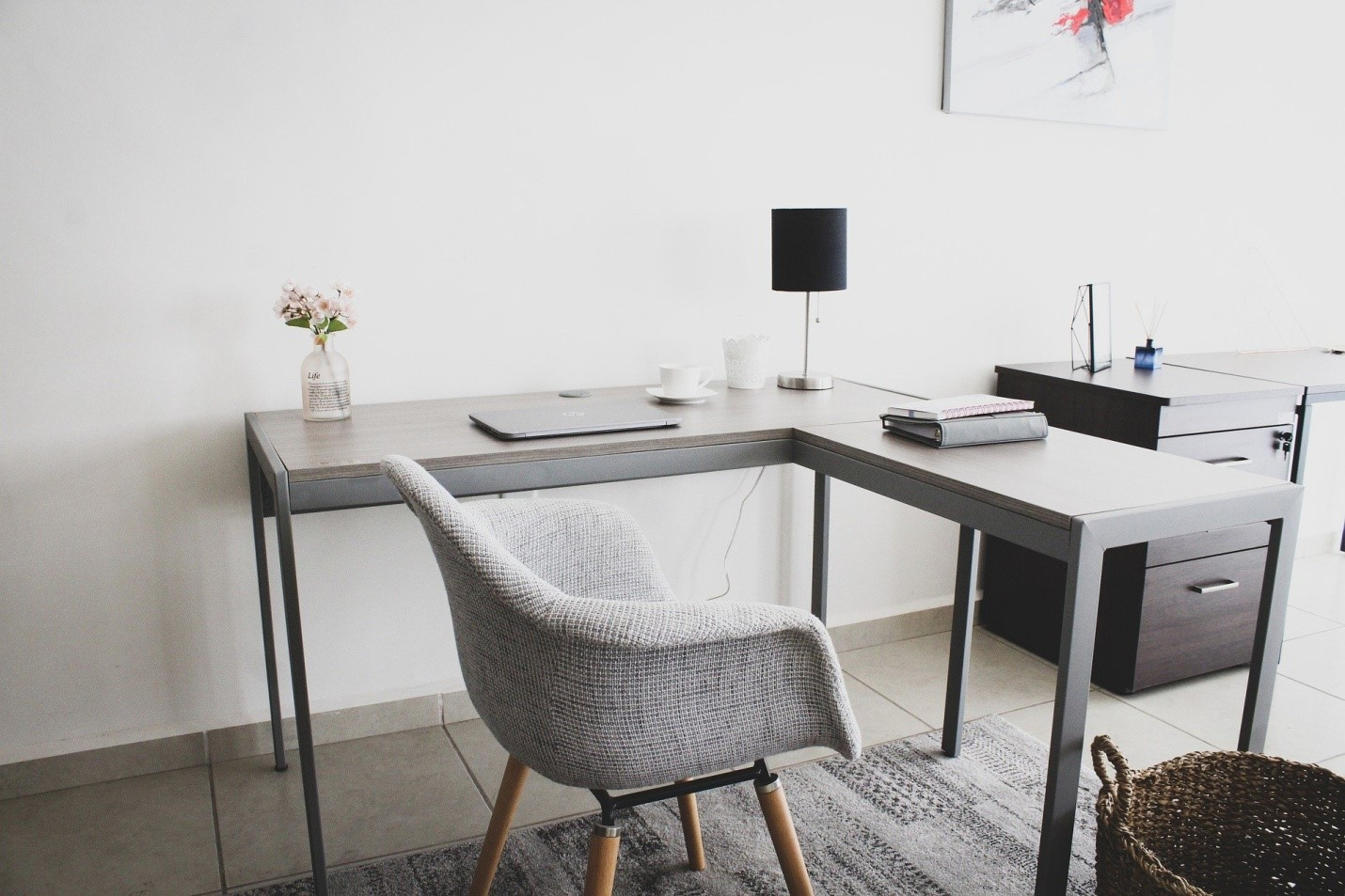 A workspace at home